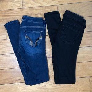 2 Pairs Hollister Jeans Size 00 Regular